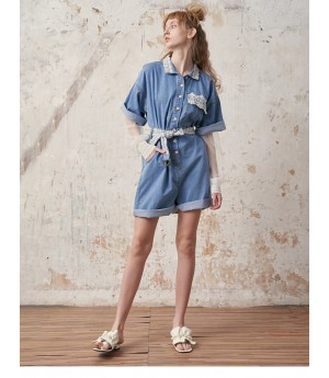 Istyni Jeans Short Dress