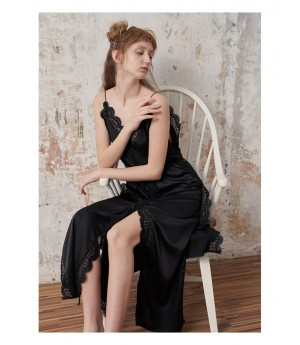 Istyni Black Sling Lace Dress