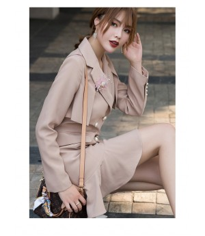 Istyni Flesh Pink Suit-Dress