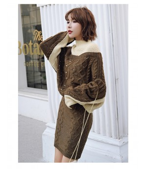 Istyni Brown Knit Two-Piece