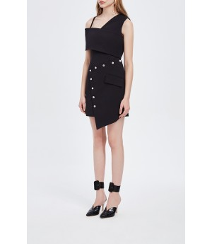 June Eleven Metallicity Drop Shoulder Dress