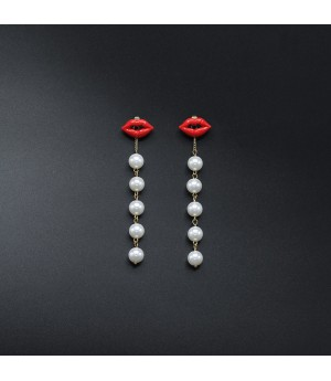 Kiss Pearl Earrings