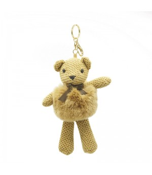 Yellow Bear Bag Charm