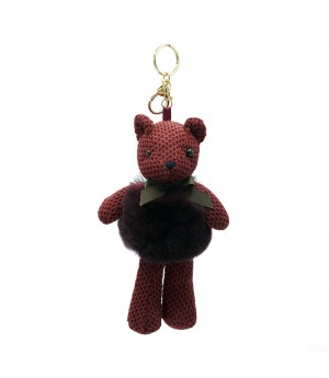 Red Bear Bag Charm