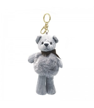Grey Bear Bag Charm