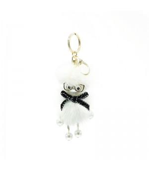 White Glasses Funny Bag Charm