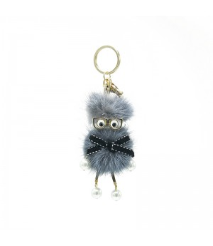 Grey Glasses Funny Bag Charm