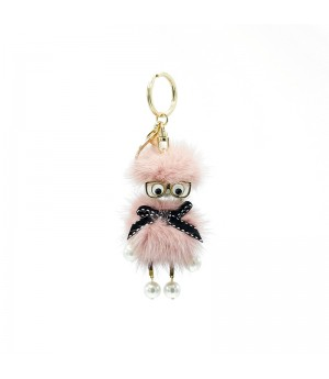 PINK Glasses Funny Bag Charm
