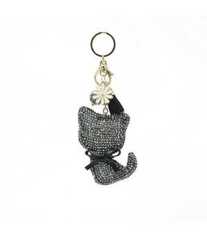 Black Diamond Cat Bag Charm