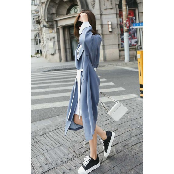 Contrast Color  Wind Coat