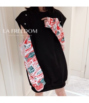 LA Freedom Removable Sleeve Sweater-Black