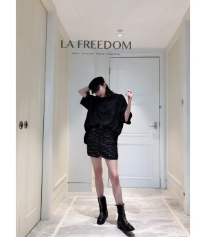 LA Freedom Starry Sky Shirt-Black