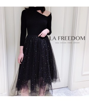 LA Freedom Starry sky Silk Skirt
