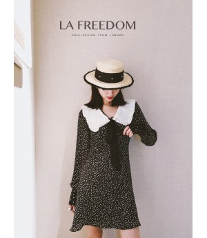 LA Freedom White Collar Starry Sky Dress