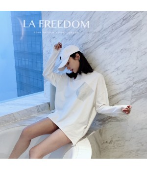 LA Freedom Diamond Shirt with Pocket-White