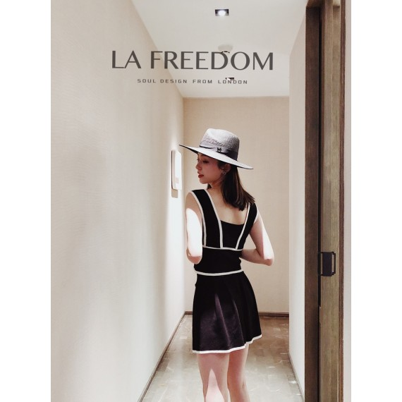 LA Freedom Cardigan Vest Three-Set-Black