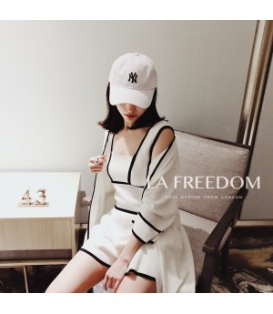 LA Freedom Cardigan Vest Three-Set-White