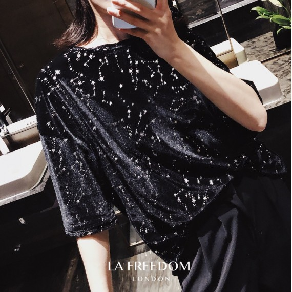 LA Freedom Galaxy Velvet Shirt