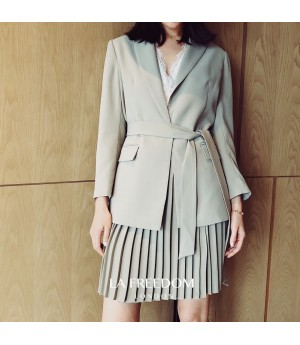 LA Freedom Retro Wrinkle Skirt&Suit