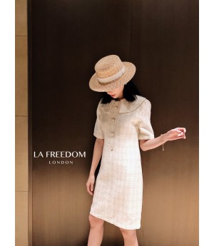 LA Freedom Doll collar Fragrance Dress-White