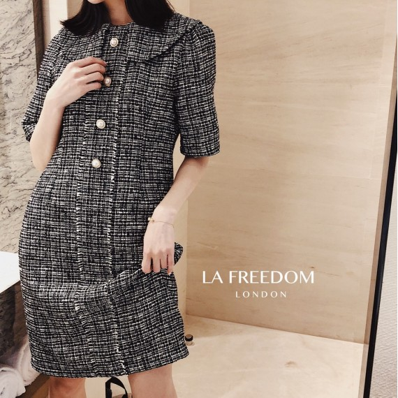 LA Freedom Doll collar Fragrance Dress-Black
