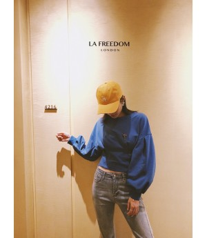 LA Freedom Bat Sleeve Hudi-Blue