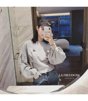 LA Freedom Bat Sleeve Hudi-Grey