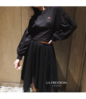 LA Freedom Bat Sleeve Hudi-Black