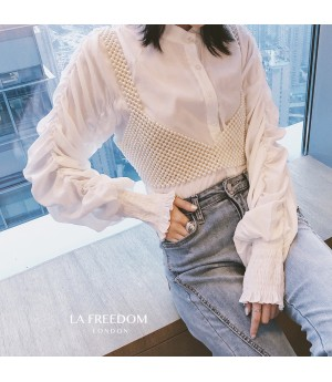LA Freedom Wrinkle Babble Sleeve Shirt