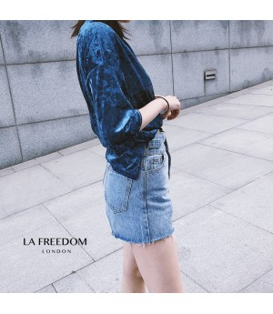LA Freedom High Waist Jeans Skirt