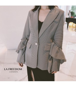 LA Freedom Lotus Sleeve Suit-Grey