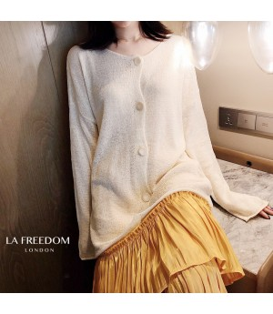 LA Freedom Sunscreen Sweater-White