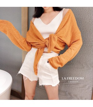 LA Freedom Sunscreen Sweater-Orange
