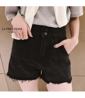 LA Freedom Leisure Jeans Short-Black