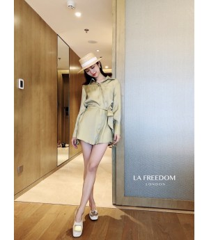 LA Freedom Retro Shirt&Coat Two-Set-Green