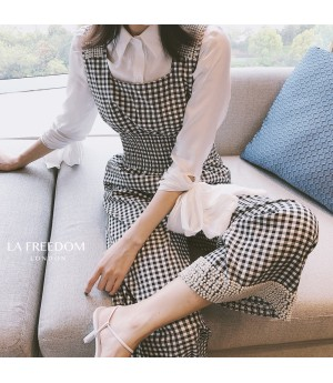 LA Freedom Lattice Pearl Rompers