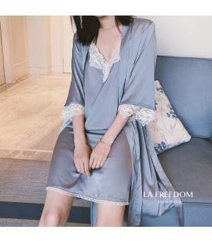 LA Freedom Lazy pajamas-Grey Blue