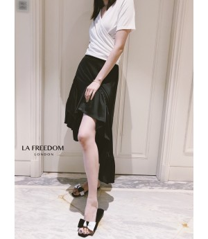 LA Freedom Asymmetry Skirt-Black