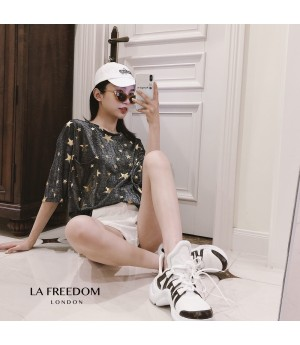 LA Freedom Black Gold Stars T-Shirt