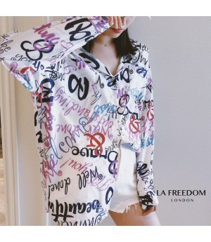 LA Freedom Letter Graffiti Shirt