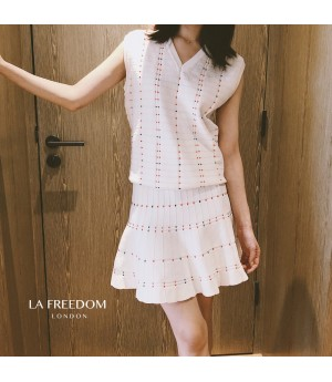 LA Freedom CHANEL Style Top&Skirt Two-Set