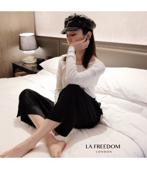 LA Freedom Wrinkle Grandma Pants-Black