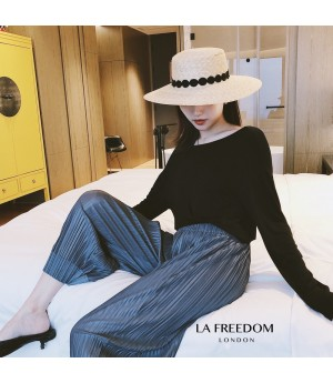 LA Freedom Wrinkle Grandma Pants-Grey