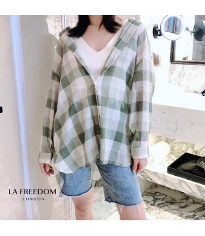 LA Freedom Lattice Sunscreen Shirt-Green