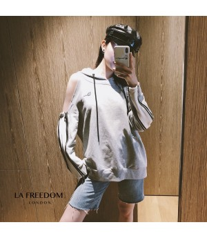 LA Freedom Strapless Shoulder Hoodie