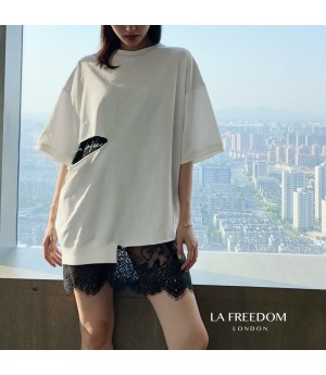 LA Freedom Lace Tee-White
