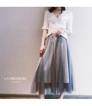 LA Freedom Silk Knit Dress Two-Set