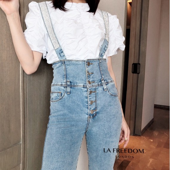 LA Freedom Diamond High Waist Romper