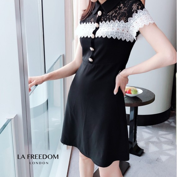 LA Freedom Lace Splice Dress