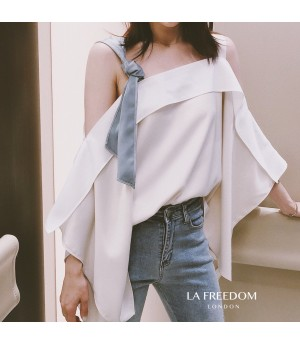 LA Freedom Off-Shoulder Colored Shirt